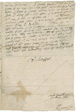 Letter from William Cavendish, Earl of Devonshire, London, to Elizabeth Hardwick Talbot, Countess of Shrewsbury