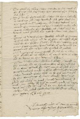 Letter from Hugh Fitzwilliam, London, to Elizabeth Hardwick Talbot, Countess of Shrewsbury, Chatsworth