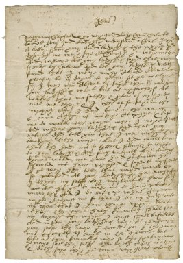 Letter from Edward Foxe, Chatsworth, to Lady Elizabeth St. Loe
