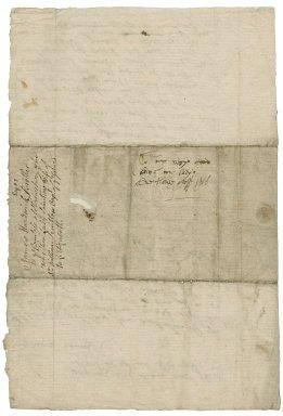 Letter from James Hardwick, Hardwick, to Lady Elizabeth St. Loe