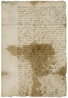 Letter from John Kniveton, Shrewsbury Place, to Elizabeth Hardwick Talbot, Countess of Shrewsbury