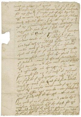 Letter from Thomas Knyvets, to Elizabeth Hardwick Talbot, Countess of Shrewsbury