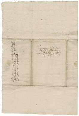 Letter from Sir John Manners, Haddon, to William Cavendish, Hardwick