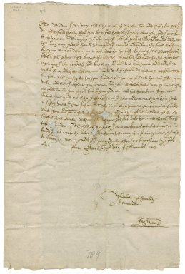 Letter from Sir John Manners, Haddon, to Elizabeth Hardwick Talbot, Countess of Shrewsbury, Hardwick
