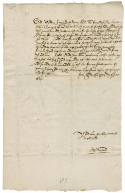 Letter from Sir John Manners, Haddon, to Elizabeth Hardwick Talbot, Countess of Shrewsbury, Hardwick