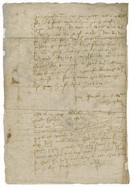 Letter from William Marchington, Chatsworth, to Lady Elizabeth St. Loe