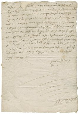 Letter from Christopher Michell, Sheffield, to George Talbot, Earl of Shrewsbury