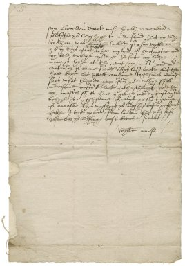 Letter from William Moulso, London, to Lady Elizabeth St. Loe