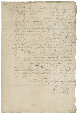 Letter from William Herbert, Earl of Pembroke, from court, to George Talbot, Earl of Shrewsbury
