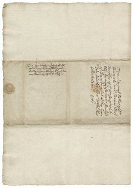 Letter from Sir George Pierrepont, Woodhouse, to Lady Elizabeth St. Loe