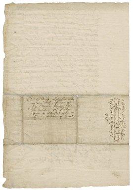 Warrant from Sir Richard Sackville, Sackville Place, London, to Sir John Byron