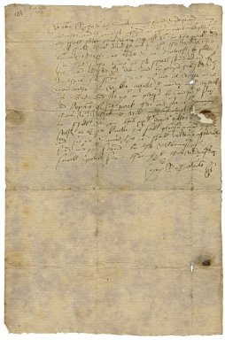Letter from Richard Savile, Thornhill, to William Ryche, Tankersley, Yorkshire