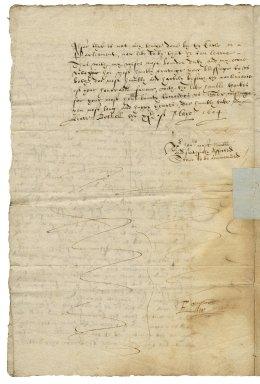 Letter from Edward Talbot, Bothell, to Elizabeth Hardwick Talbot, Countess of Shrewsbury, Hardwick