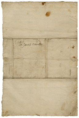 Letter from Lady Elizabeth St. Loe, from court, to James Crompe