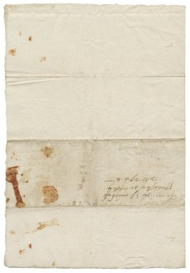 Letter from George Talbot, Earl of Shrewsbury, from court, to Elizabeth Hardwick Talbot, Countess of Shrewsbury, Tutbury
