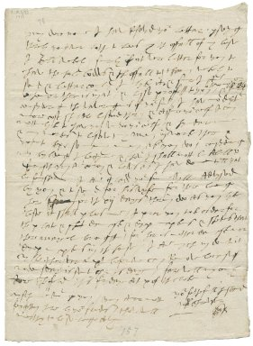 Letter from George Talbot, Earl of Shrewsbury, Sheffield, to Elizabeth Hardwick Talbot, Countess of Shrewsbury