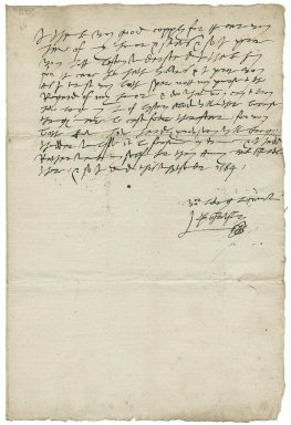 Letter from George Talbot, Earl of Shrewsbury, to Avery Copley and Hugh Byston