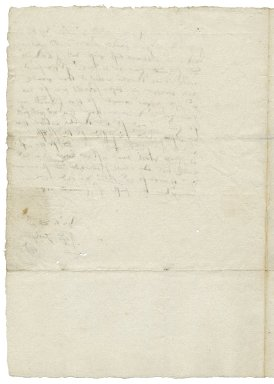 Letter from George Talbot, Earl of Shrewsbury, Orton Longueville, Huntingdonshire, to Avery Copley