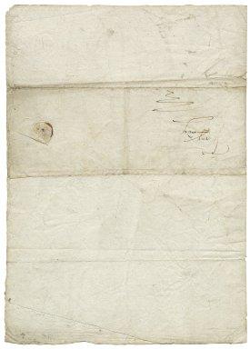 Letter from Gilbert Talbot, Shrewsbury Place, London, to Elizabeth Hardwick Talbot, Countess of Shrewsbury