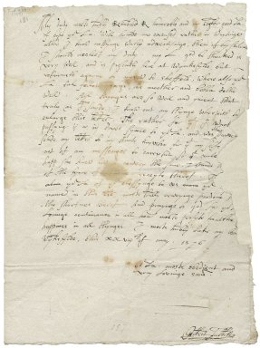 Letter from Gilbert Talbot, Wingfield, to Elizabeth Hardwick Talbot, Countess of Shrewsbury