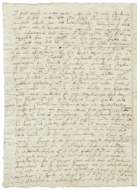 Letter from Gilbert Talbot to Elizabeth Hardwick Talbot, Countess of Shrewsbury
