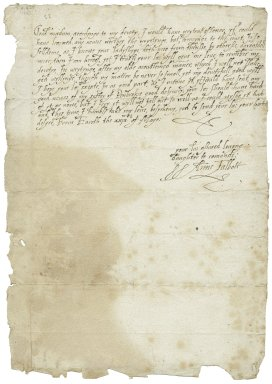 Letter from Anne Talbot, Earith, Huntingdonshire, to Elizabeth Hardwick Talbot, Countess of Shrewsbury