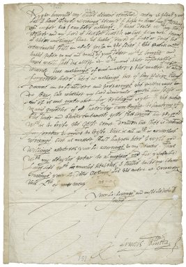 Letter from Francis Talbot, the court at Greenwich, to George Talbot, Earl of Shrewsbury