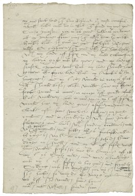 Letter from Anthony Wingfield, the court at Windsor, to Elizabeth Wingfield
