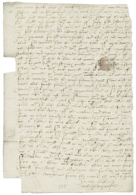 Letter from Anthony Wingfield, the court, to Elizabeth Wingfield
