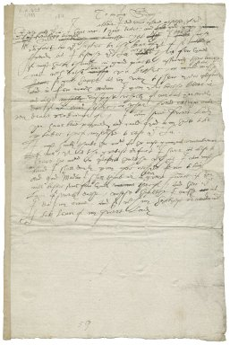 Letter from unidentified lady to Lady Mary Sidney