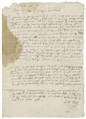 Note of Gilbert Talbot, Earl of Shrewsbury