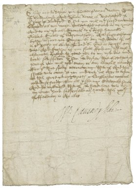 Warrant to collect the customary tithes of Bradfield