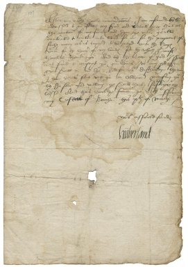 Letter from Henry de Clifford, Earl of Cumberland, Brougham Castle, Westmorland, to Sir Thomas Wentworth