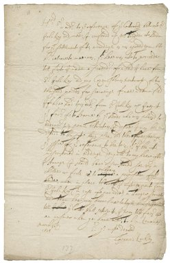 Letter from Francis Rockley to Sir George Wentworth