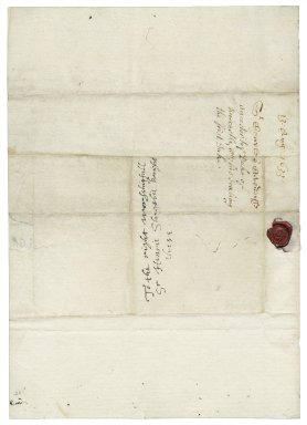 Letter from Sir Charles Cavendish, Welbeck, Nottinghamshire, to Sir Henry Slingsby at Red House (i.e. Redhouse), Yorkshire