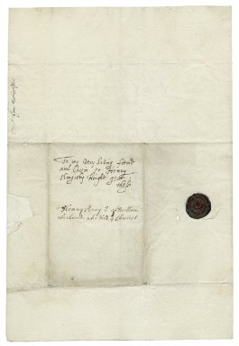 Letter from Henry Percy, Earl of Northumberland, to Sir Henry Slingsby