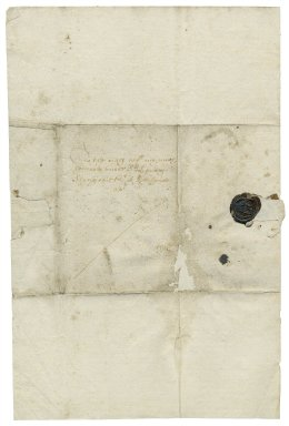 Letter from Sir Robert Slingsby, bart., to Sir Henry Slingsby, Red House, Yorkshire