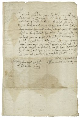 Letter from Samuel Wortley, Swinton, Yorkshire, to Thomas Hall at Wightwizzle (i.e. Wigtwisell), Yorkshire
