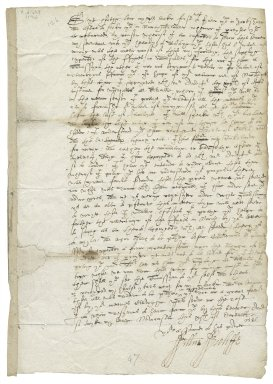 Letter from William Wycliffe, Newcastle, to Francis Slingsby, Scriven, Yorkshire
