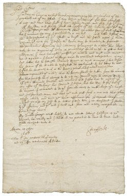 Letter from William Wentworth, Earl of Strafford, Rouen, to Sir George Wentworth of Woolley, and Thomas Wentworth
