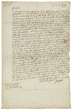 Letter from William Wentworth, Earl of Strafford, Rouen, to Sir George Wentworth of Woolley, and Thomas Wentworth, Esq.
