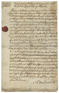 Warrant for arrest from West Riding, Yorkshire, to the constable of Attercliffe, all other constables in the West Riding, and their deputies