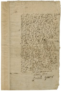 Letter from Stanley and Sarah Gower to John Stainforth, Darnall, Yorkshire