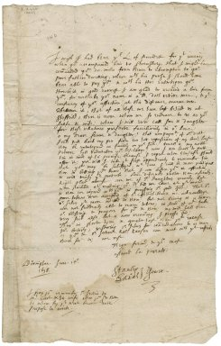 Letter from Stanley and Sarah Gower, Brampton Bryan, Herefordshire, to John Stainforth, Darnall, Yorkshire