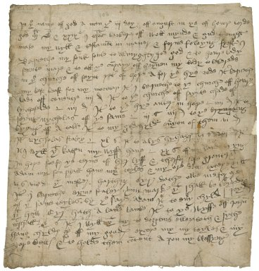 Copy of will of Thomas Barbur of Hope, Staffordshire, August 3, 1529