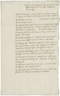 Letter from Nathaniel Bacon. Examination of Cuthbert Gray, concerning death on a ship at sea. Manuscript, 27 December 1598