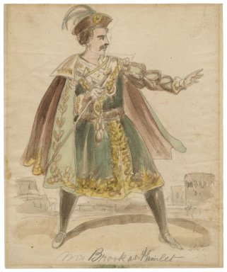 Mr. Brook [sic] as Hamlet [graphic] / [Issac Robert Cruikshank, probable artist].