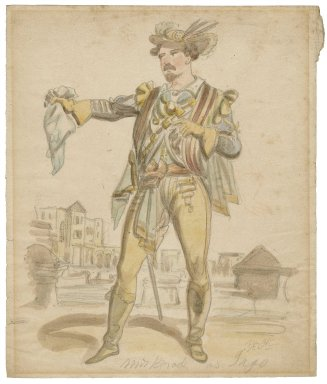 Mr. Brook [sic] as Iago [graphic] / [Issac Robert Cruikshank, probable artist].