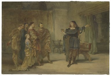 Hamlet and the players, [Hamlet, III,2] [graphic] / Charles Cattermole.