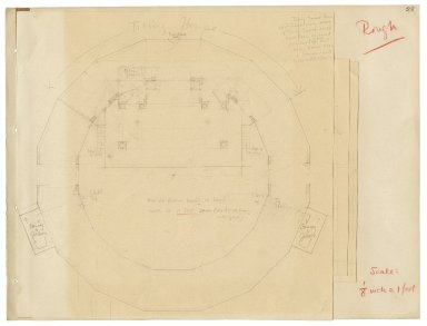 "Floorplan of an Elizabethan theater at 1/8"" scale"